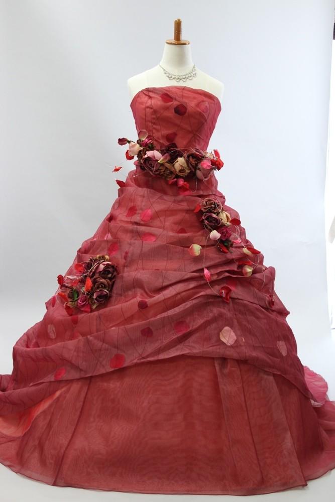№56 カラードレス レッド