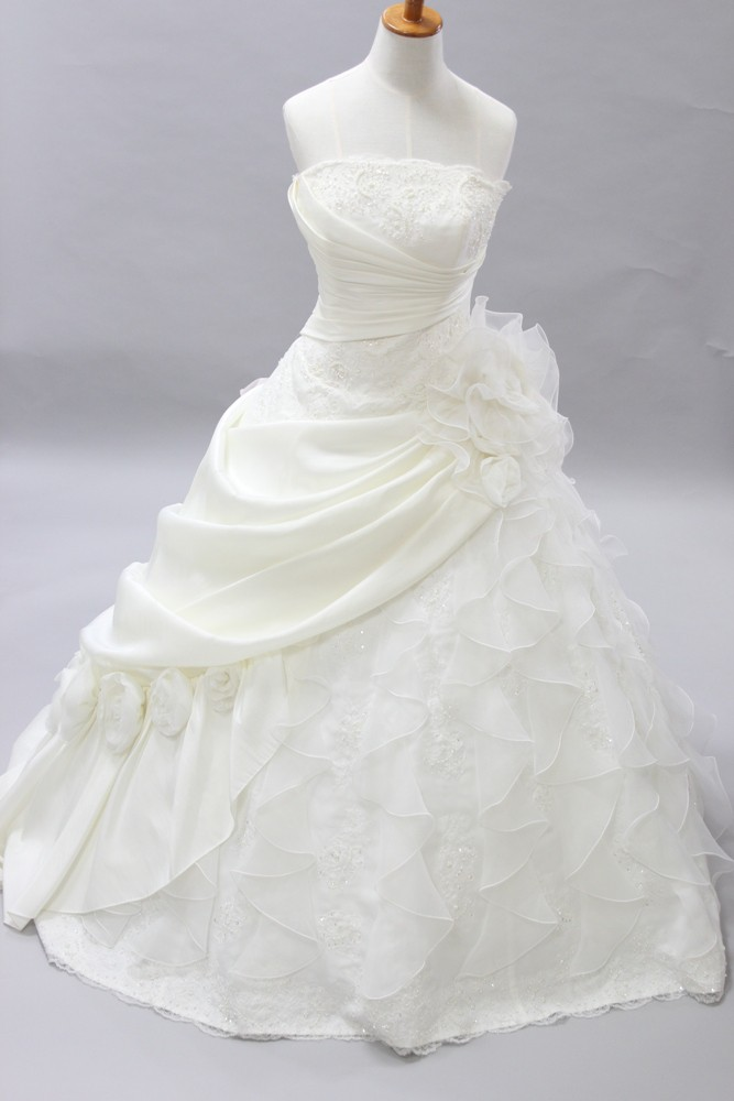 №20 ロングトレン ウエディングドレス