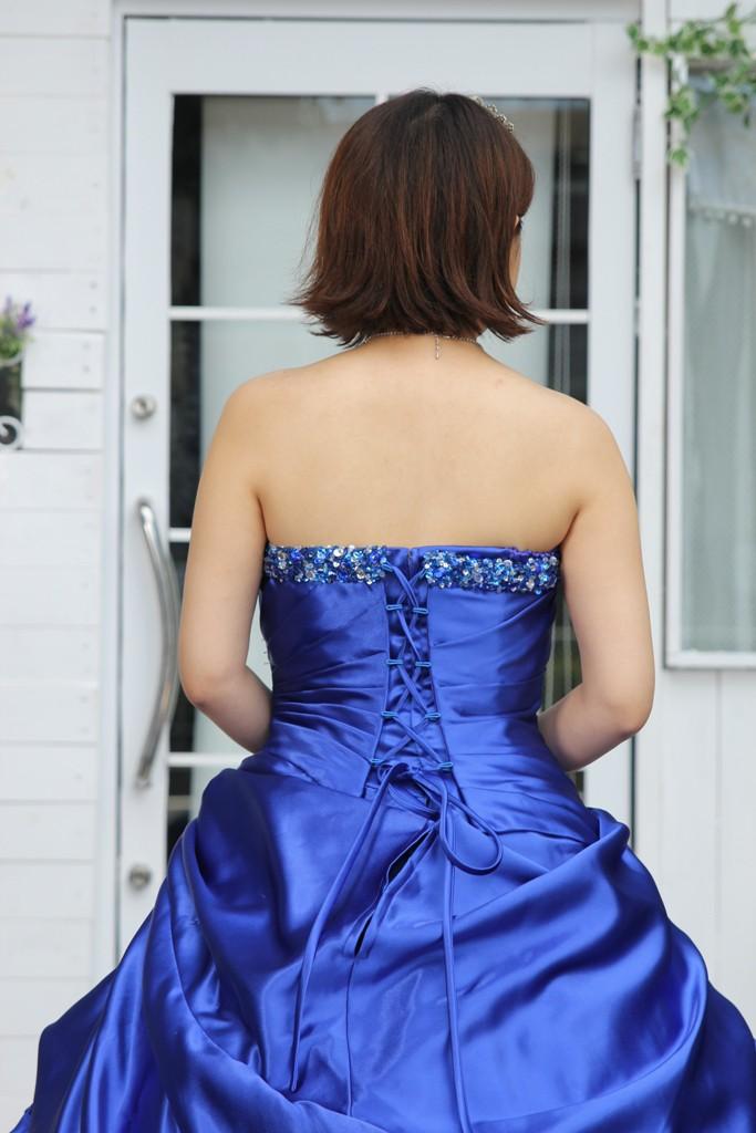 №90 ブルー カラードレス