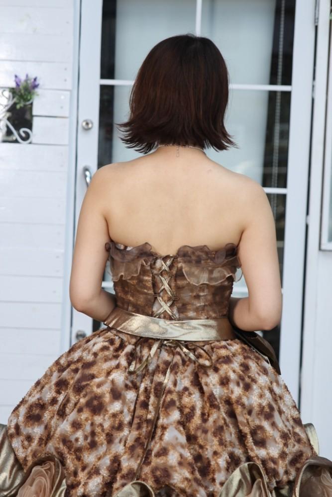 №82 豹柄 カラードレス