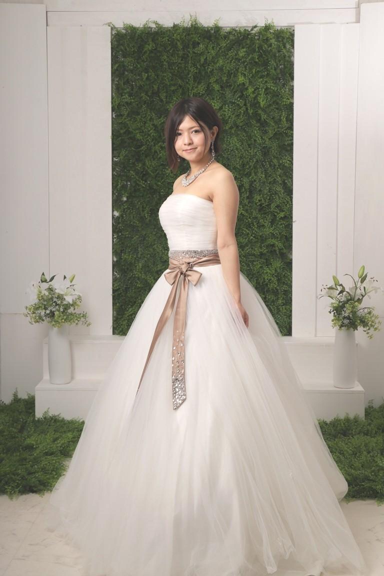 サッシュベルト付きドレス 2102