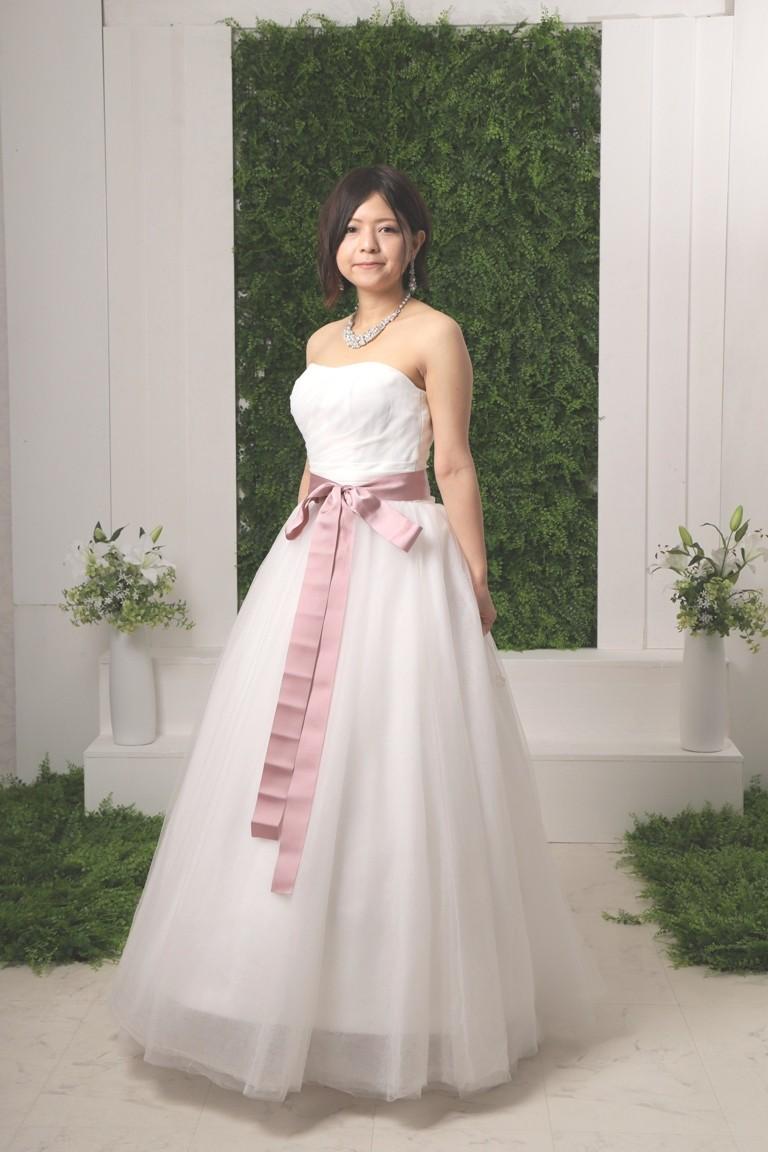 アンクル丈 二次会ウエディングドレス 2106